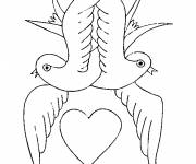 Coloring pages Valentine's Day Love to print