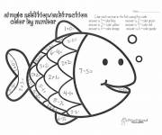 Coloring pages Addition Fish simple