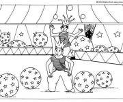 Free coloring and drawings Circus acrobat Coloring page