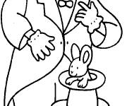 Coloring pages Circus Clown Magician