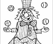 Free coloring and drawings Circus Clown to color Coloring page