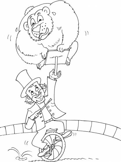 Free coloring and drawings Circus Magician to color Coloring page
