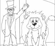 Free coloring and drawings Circus online Coloring page