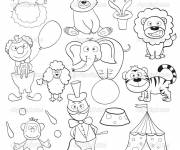 Coloring pages Color Circus Animals