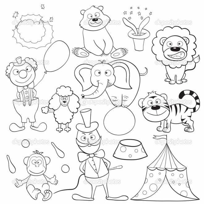 Free coloring and drawings Color Circus Animals Coloring page