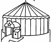 Free coloring and drawings Stylized circus Coloring page