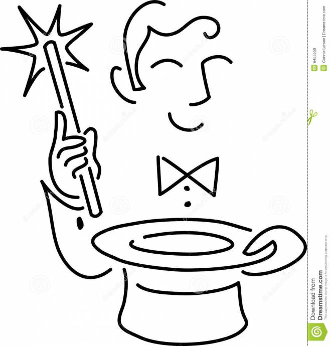 Free coloring and drawings The Cutting Wizard Coloring page