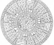 Coloring pages Adult Mandala Challenge