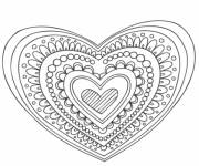 Coloring pages Heart and love mandala