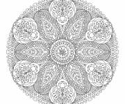 Coloring pages Adult flower mandala anti-stress
