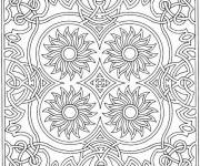 Coloring pages Centered flowers mandala