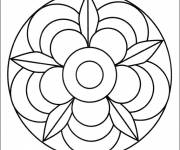 Coloring pages Color Flower Mandala