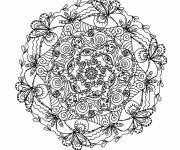 Coloring pages Complex mandala for adults