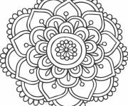 Coloring pages Cut flowers mandala