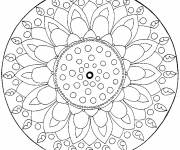 Coloring pages Difficult Color Flower Mandala