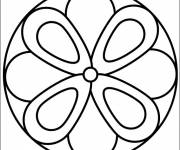 Coloring pages Easy Flower Mandala for free