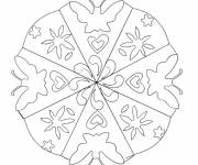 Coloring pages Flower and Butterfly Mandala