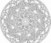 Coloring pages Hard Mandala on computer
