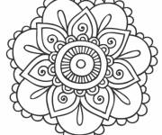 Coloring pages Mandala Flowers to color