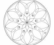 Coloring pages Mandala Flowers Vector