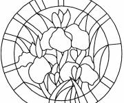 Coloring pages Stylized Flower Mandala to print