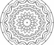 Coloring pages Adorable Easy Mandala