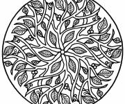 Coloring pages Difficult Mandala Tree