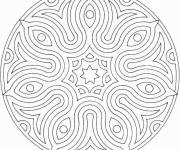 Coloring pages Easy Mandala online