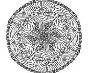 Coloring pages Flowers and Eyes Mandala