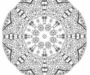 Coloring pages Mandala Difficult to download