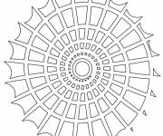 Coloring pages Shell Mandala Online