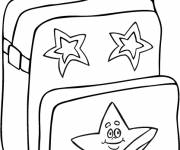 Free coloring and drawings Back to school bag Coloring page