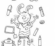 Free coloring and drawings Back to School in September to color Coloring page