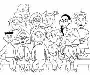 Free coloring and drawings Class photo Coloring page