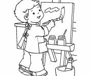 Coloring pages Kindergarten drawing session