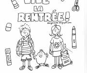 Free coloring and drawings Kindergarten in color Coloring page