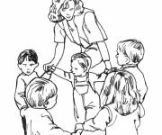 Coloring pages Kindergarten small section
