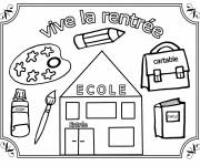 Free coloring and drawings Long live back to school for boys Coloring page