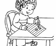 Free coloring and drawings pupil and The Kindergarten Alphabet Coloring page