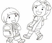 Free coloring and drawings Students and Back to School Coloring page