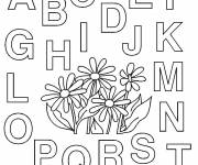 Free coloring and drawings The letters of the alphabet to color Coloring page