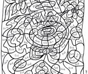 Coloring pages Mathematical Magic