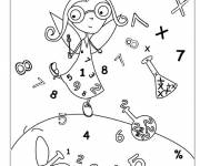 Coloring pages School and Mathematics
