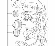 Coloring pages Chinese New Year Meal