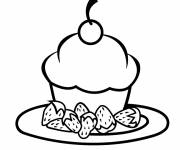 Coloring pages Cupcake Meal