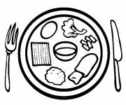 Coloring pages Meal in vector