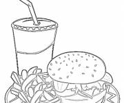 Coloring pages Sandwich meal