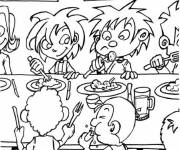 Coloring pages School meals