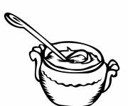 Coloring pages Soup Meal