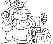 Coloring pages The Witch's Meal